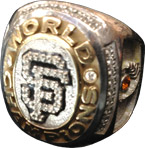 San Francisco Giants World Series Championship Ring